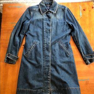 GAP Vintage Style Mid Length Duster Denim Jacket!